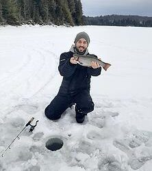 Benton Goes Ice Fishing!