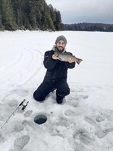 Benton Goes Ice Fishing!